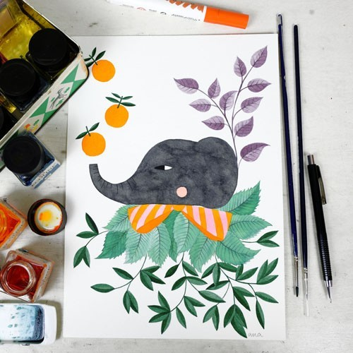 watercolor by PinkNounou 8A